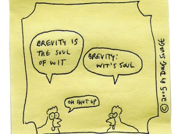 Brevity is the soul of wit – ANGLES #1