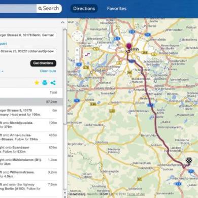 Share route OVI Maps