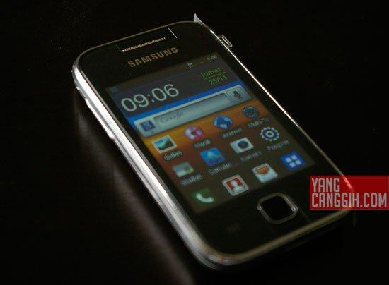 Samsung Galaxy Y desain