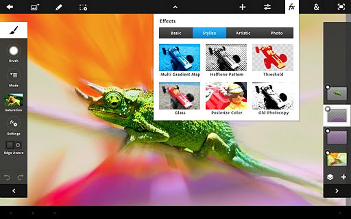 Adobe Photoshop Touch Adobe Photoshop Touch: Editor Gambar Populer Hadir di Android & iOS ios iphoneipad aplikasi android
