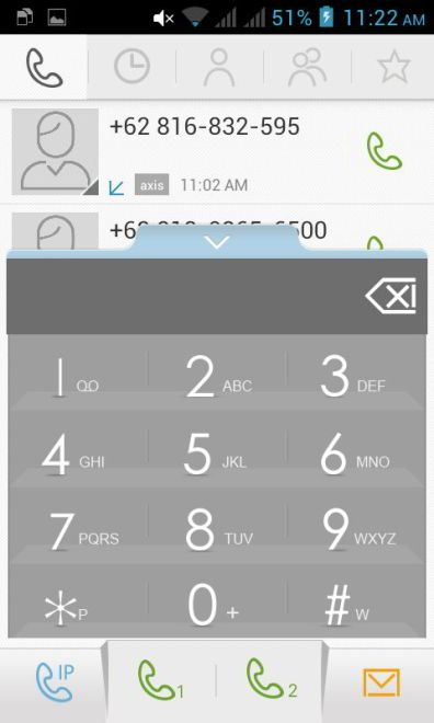 screenshot dialer screen lenovo a390 1
