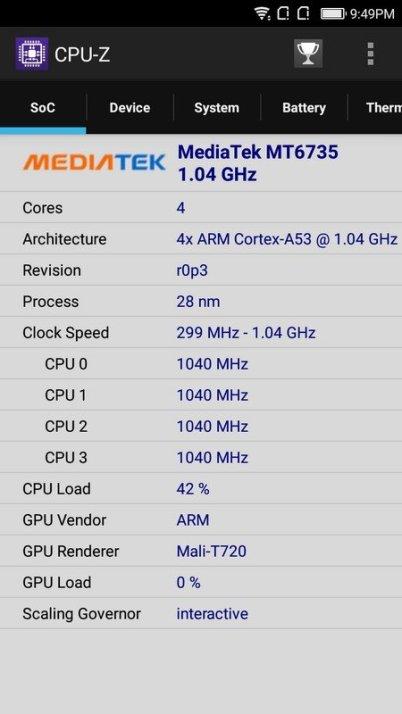 Coolpad Fancy 3 CPU Z (2)