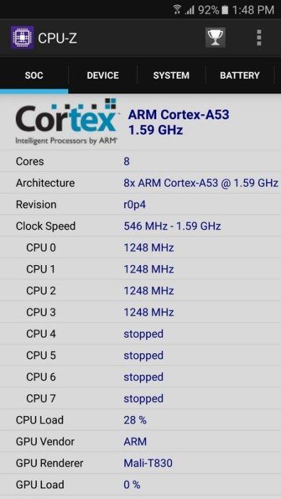 Samsung Galaxy J7 Prime CPU Z (1)