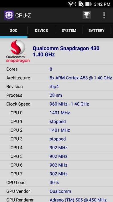 Asus ZenFone 3 Max ZC553KL CPU Z (2)