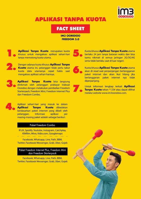Fact Sheet Aplikasi Tanpa Kuota dan Rp1 untuk IM3 Ooredoo