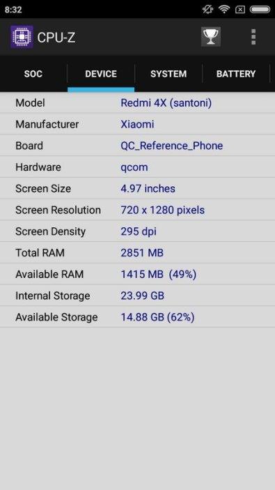 Xiaomi Redmi 4X CPU Z (3)