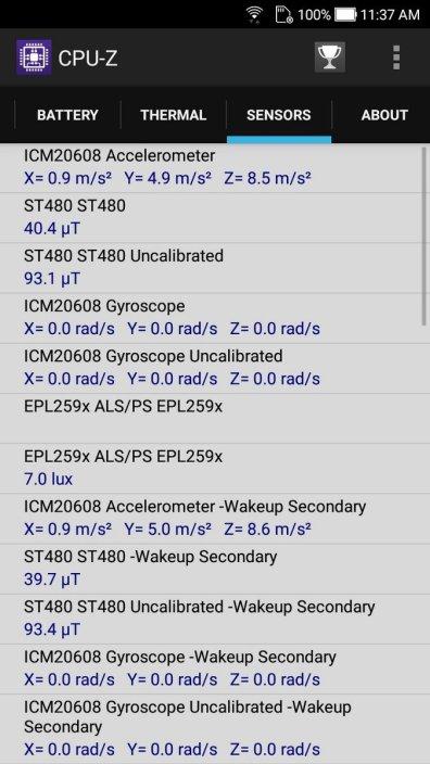 Asus ZenFone 4 Selfie CPU Z (1)