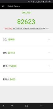 Samsung Galaxy A8+ antutu