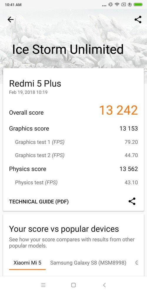 Xiaomi Redmi 5 Plus 3D Mark (1)