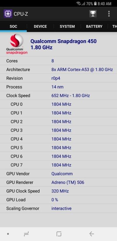 Galaxy A6+ CPU Z (2)