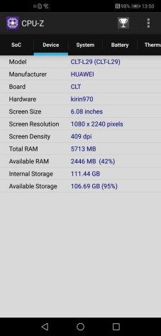 Huawei P20 Pro CPU Z (2)