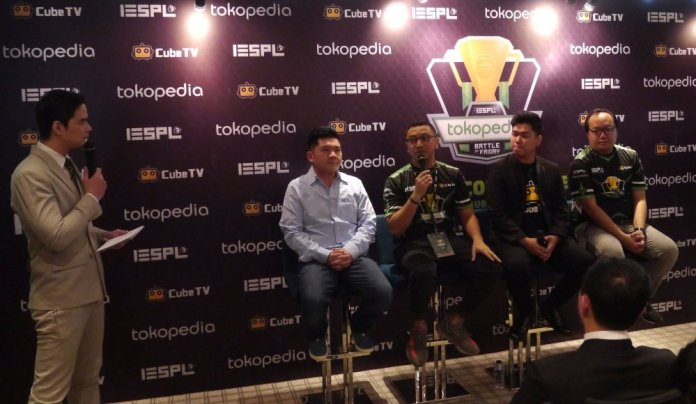 IESPL Bersama Tokopedia & Cube TV Resmikan Liga Esports Tokopedia Battle of Friday 1