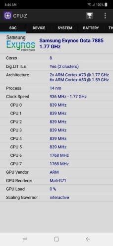 Samsung Galaxy M20 CPU-Z (2)