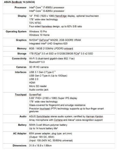 ASUS ZenBook 14 spek-1
