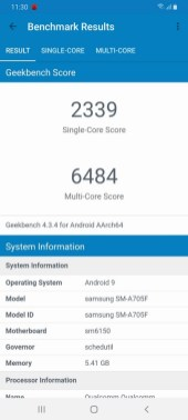 Galaxy A70 Geekbench 4
