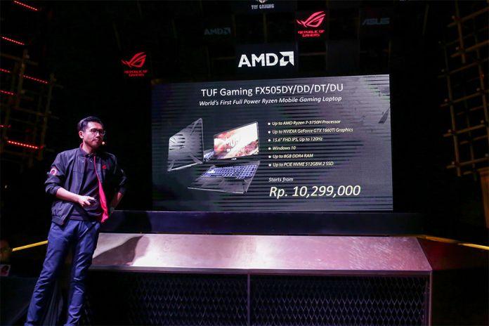 ASUS TUF FX505, Laptop Gaming Pertama dengan Prosesor AMD Ryzen Mobile Gen 2 Seri 3000 2