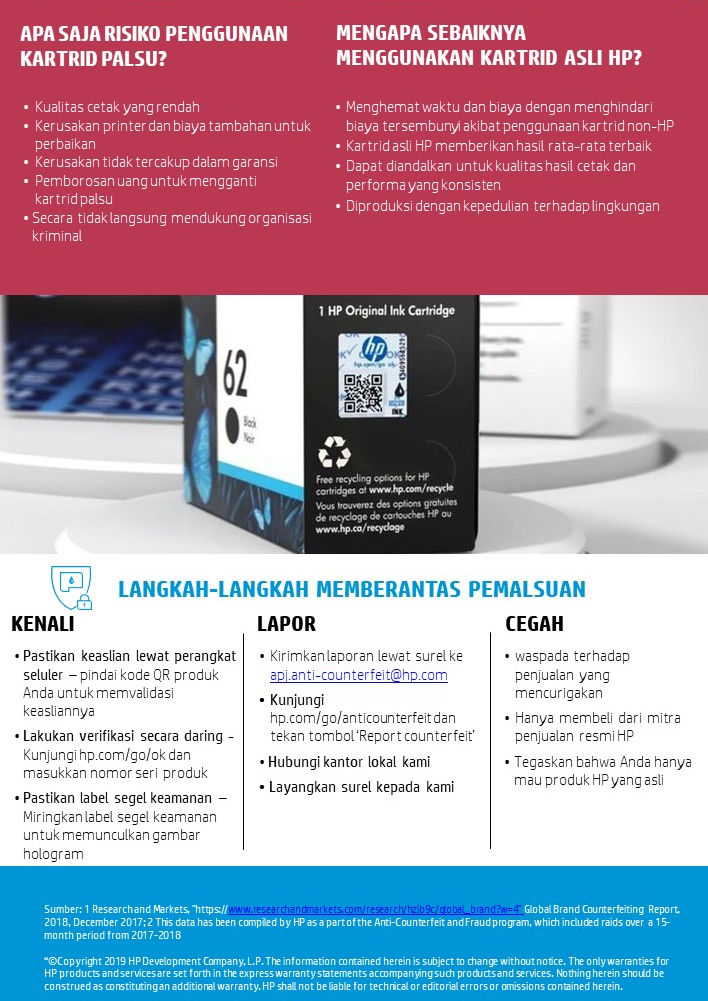 HP Memerangi Tinta & Toner Palsu di Asia Tenggara dengan Program ACF 18 HP, hp deskjet, hp laserjet, kartrid printer asli, printer HP