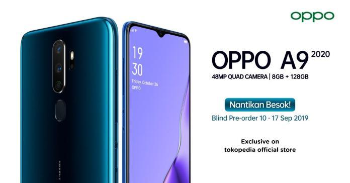 OPPO A9 2020 Bisa Dipesan Melalui Tokopedia Mulai 10 September 2019 1