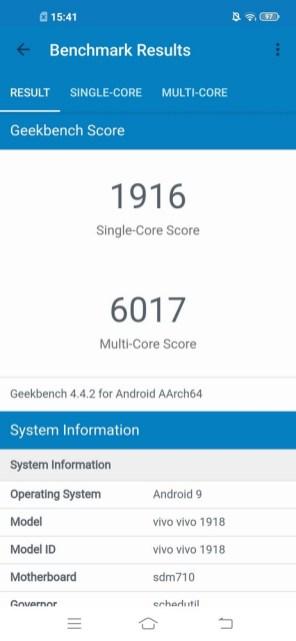 Vivo Z1 Pro Geekbench