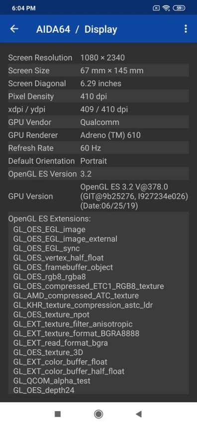 Redmi Note 8 AIDA 64 (1)