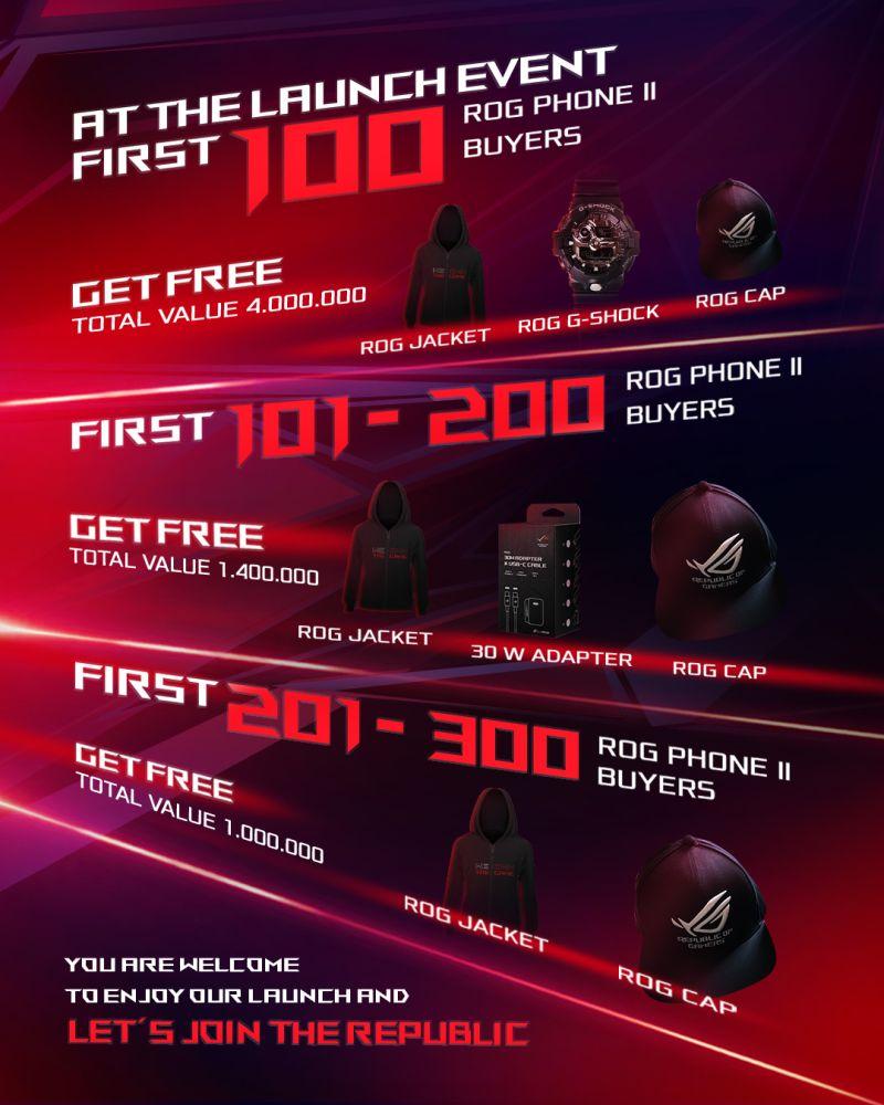 Asus Siapkan Bonus Hingga 4 Juta Rupiah Bagi 300 Pembeli ROG Phone II Pertama 12
