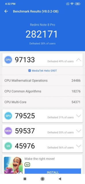 Redmi Note 8 Pro antutu 8