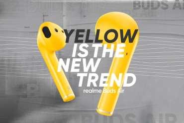 realme Buds Air Kini Tersedia dalam Varian Warna Kuning 14 audio, Earbuds, Realme, realme Buds Air