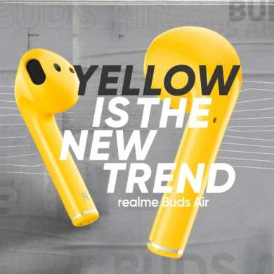 realme Buds Air Yellow is A New Trend