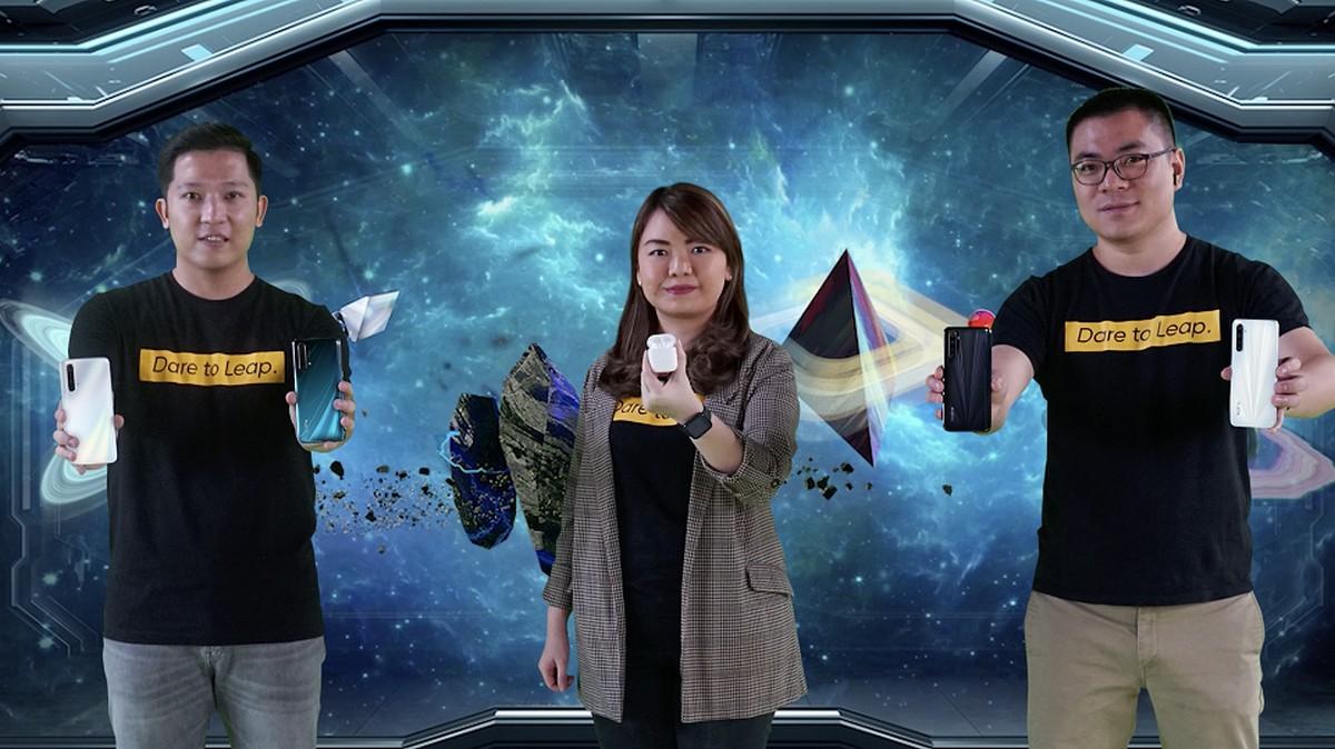 Foto Bersama Peluncuran realme X3 SuperZoom realme Narzo realme Watch realme Buds Air