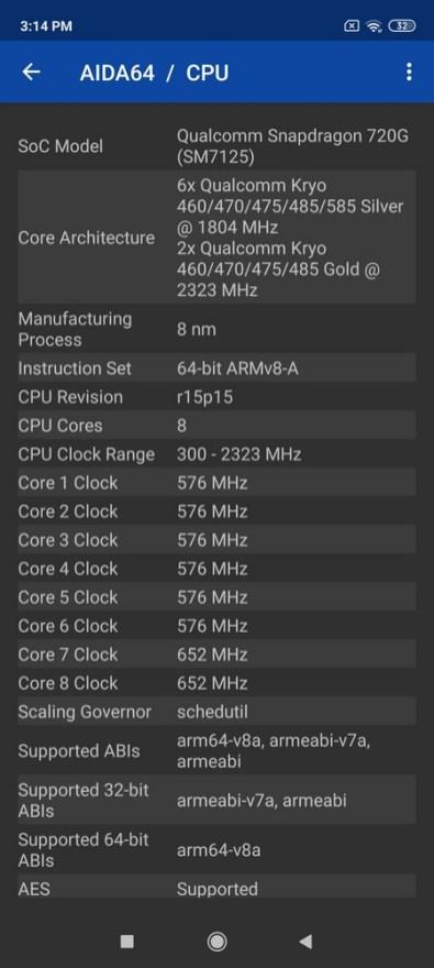 Redmi Note 9 Pro AIDA64 (2)