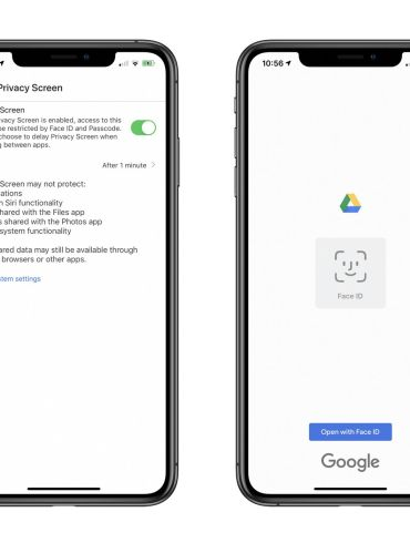 Google Drive Privacy Screen