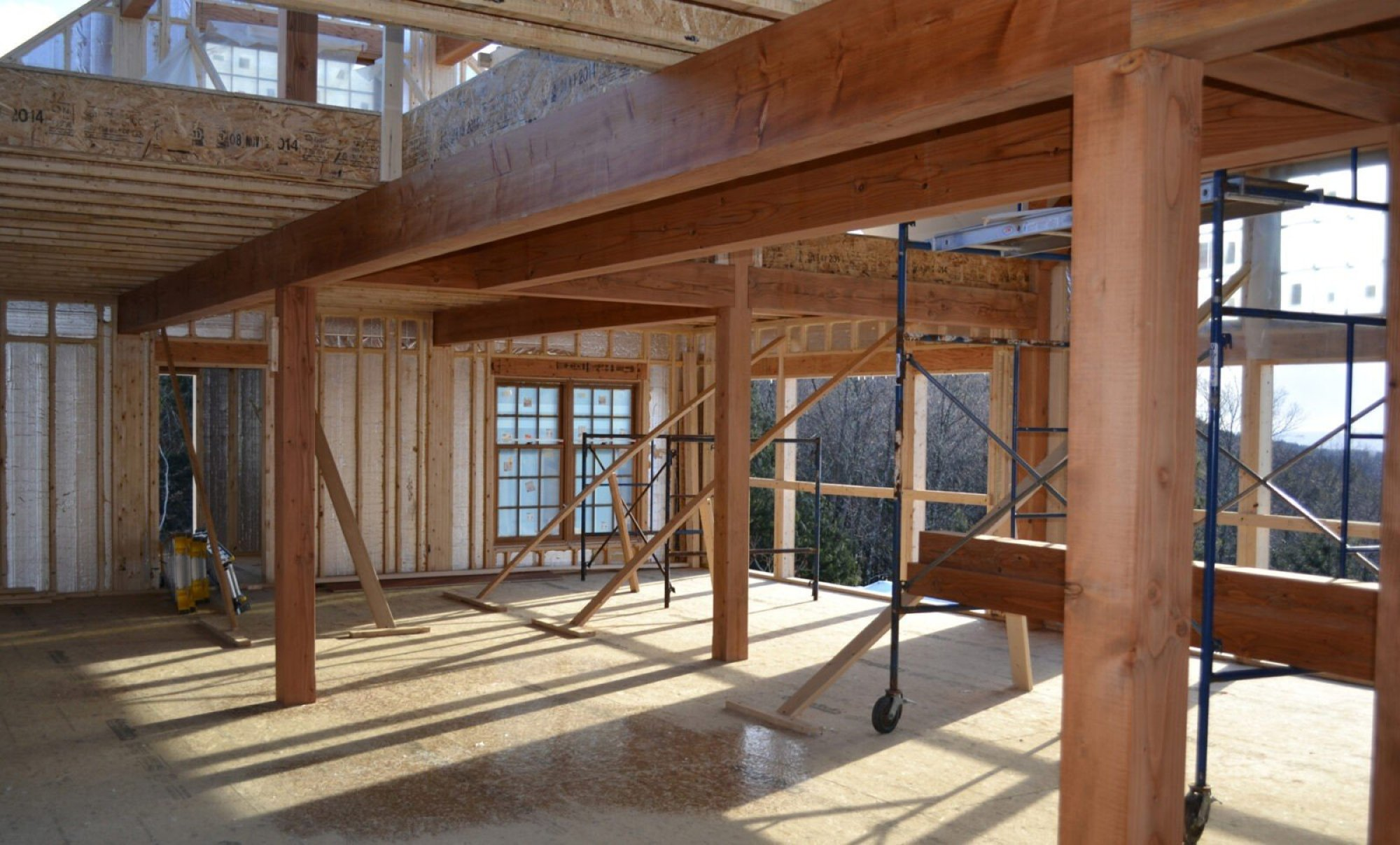 A frame homes kits cost for Timber frame barn home plans