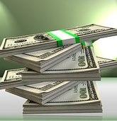 pile of dollar money