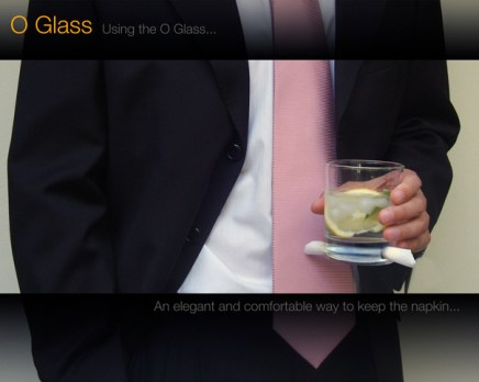 O-Glass - Cocktail Glass That Holds A Napkin by Alvaro Lagos Vasquez