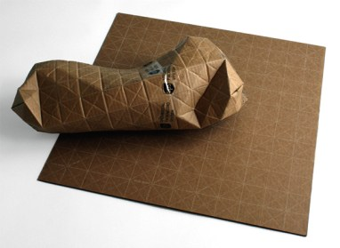 UPS - Universal Packaging System, Recyclable Corrugated Cardboard Sheet by Patrick Sung