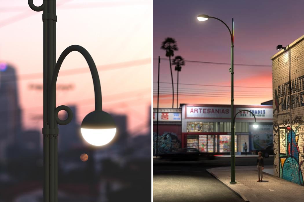 modular streetlight design lights