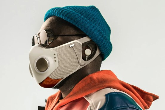 Honeywell and rapper Will.i.am have just debuted a futuristic face mask with built-in wireless headphones