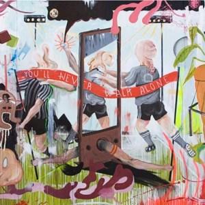 """You´ll never walk alone, so where do we go"". Óleo y acrílico sobre lienzo. 290 x 580 cm"