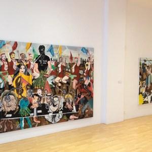 Vista 2 de exposición en galería Carolina Rojo