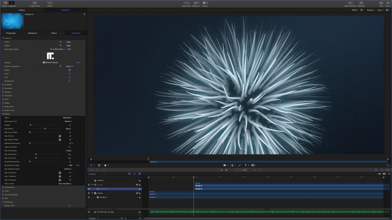 Yanobox Nodes 3.0.2 Mac 破解版 新一代点线粒子特效运动图形插件