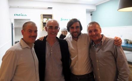 Marco, Paco, Miguel y Raul en IlCortile