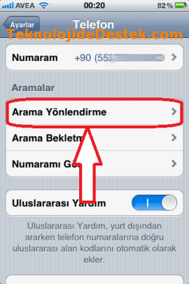 iPhone Arama Ayarları, iPhone Arama Bekletme, iPhone Arama Yönlendirme, iPhone Numara Gizleme,