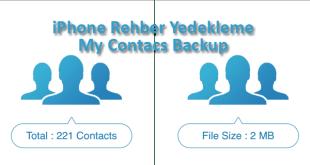iPhone Rehber Yedekleme My Contacs Backup