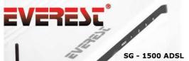 Everest SG 1500 Modem Kurulumu,Everest Modem Kurulumu,Everest Modem IP Adresi,Everest Modem Arayüz Şifresi,