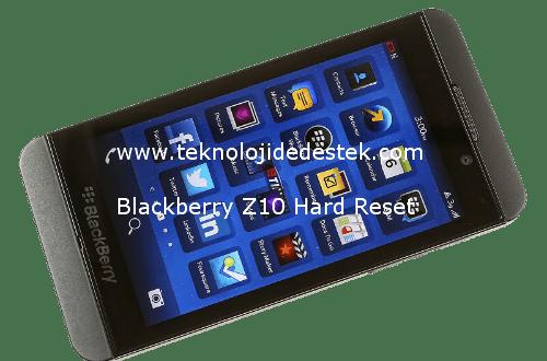 Blackberry Z10 Hard Reset 1