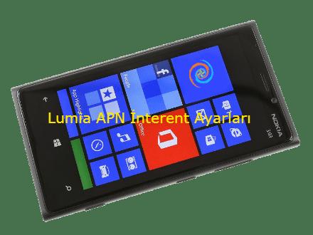 Nokia Lumia Turkcell Vodafone Avea APN İnternet Ayarları