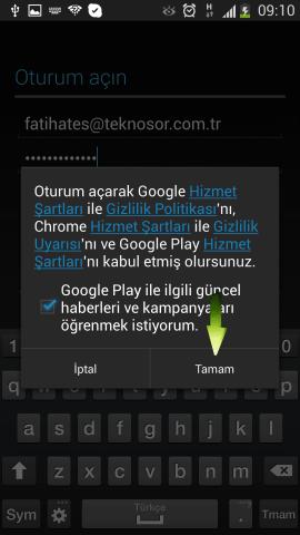 Samsung i9500 Galaxy S4 Mail Ekleme (8)