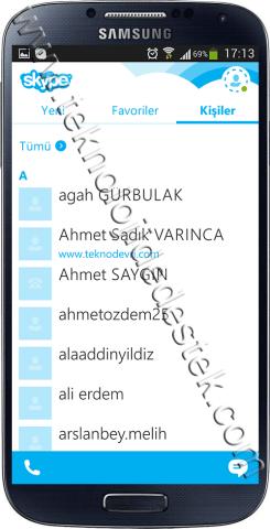 Android icin Turkce Skype (2)