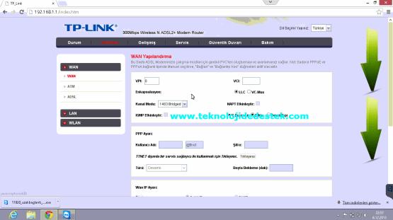 Tp-Link TD864W Kablosuz Modem Kurulumu (5)