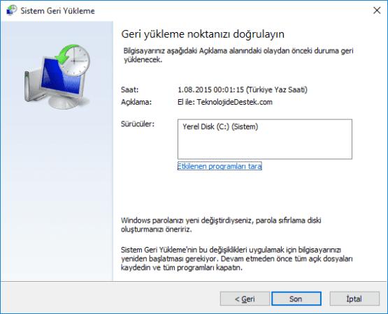 Windows 10 Sistem Geri Yukleme Nasil Yapilir 10